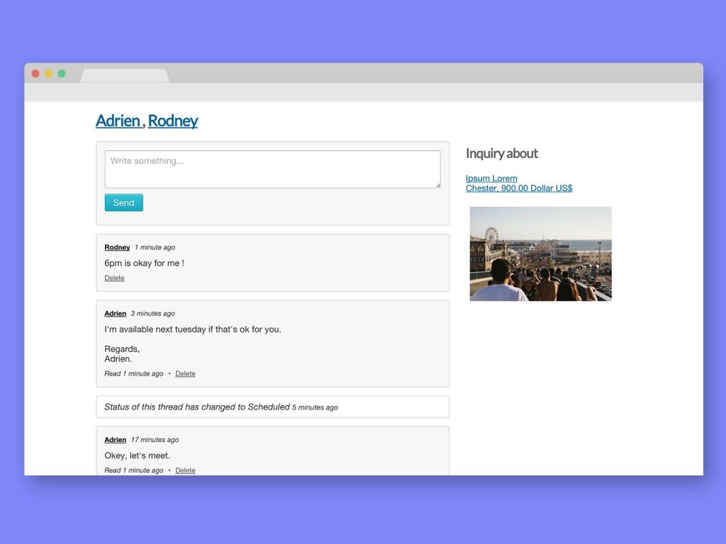 Personal Messaging Plugin For Osclass - Messenger - 4