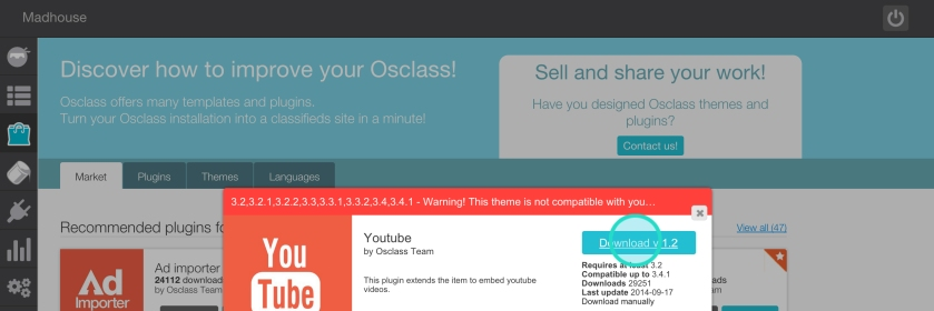 How to install an Osclass plugin manually - step 2