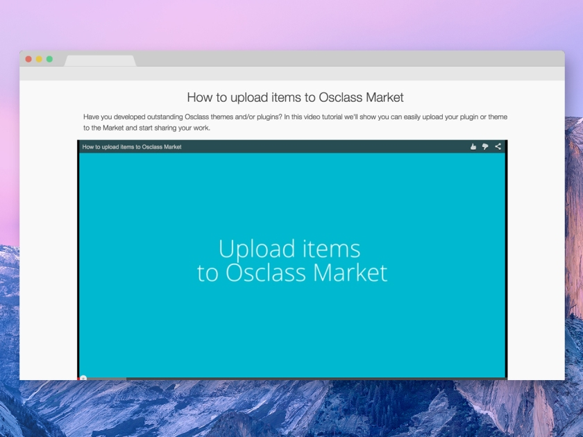 Tutorial - Upload items on the Osclass market - Screenshot