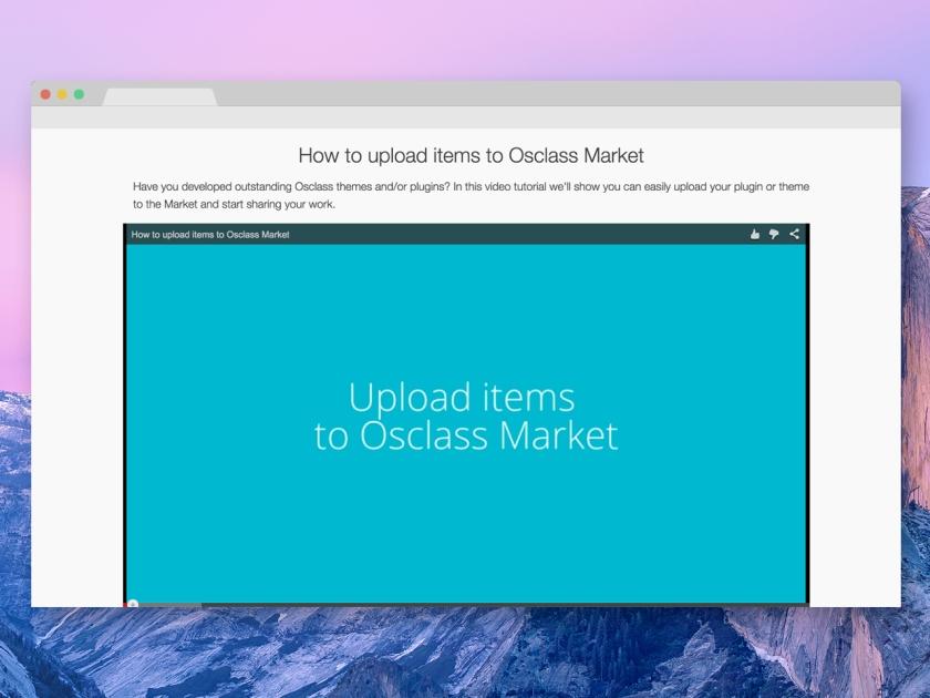Tutorial - Upload items on the Osclass market - Screenshot