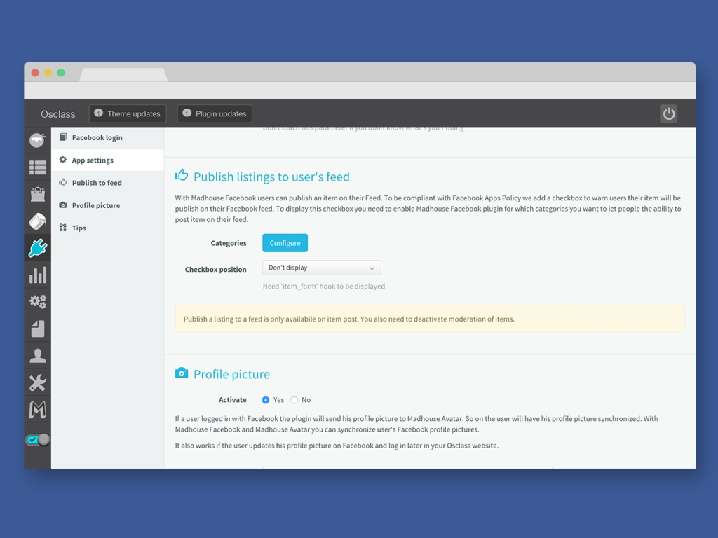 Facebook - Login Plugin for Osclass - 3