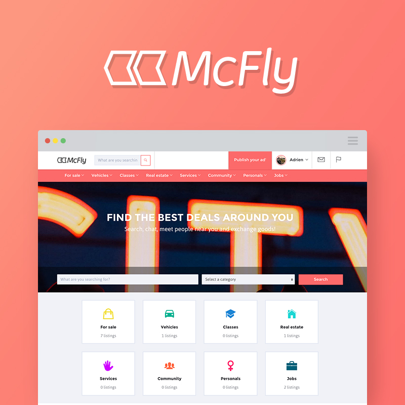 Mcfly - Osclass theme designed and built by Madhouse