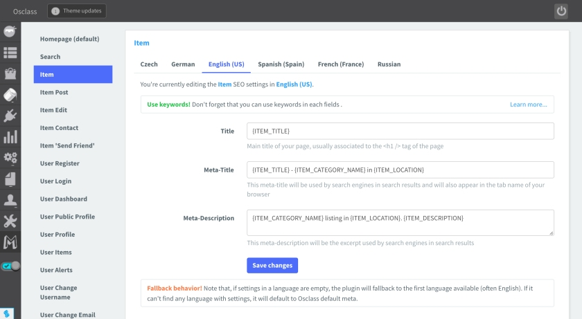 Madhouse SEO - All pages seo settings